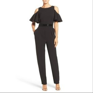 Eliza J | Black cold shoulder jumpsuit